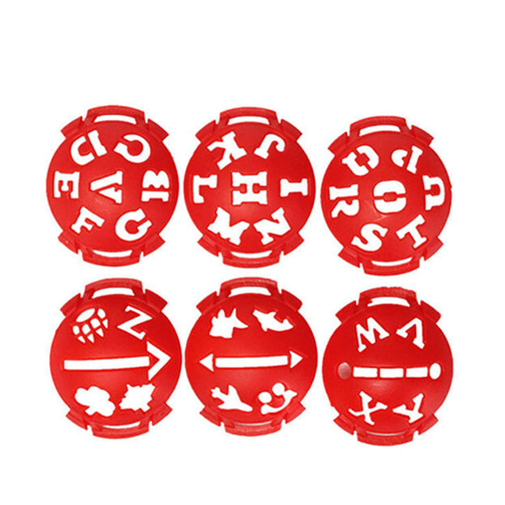 6pcs/set Plastic Alphabet Golf Ball Line Liner Marker Pen Drawing Alignment Marks Tool Set Equipment Accessories