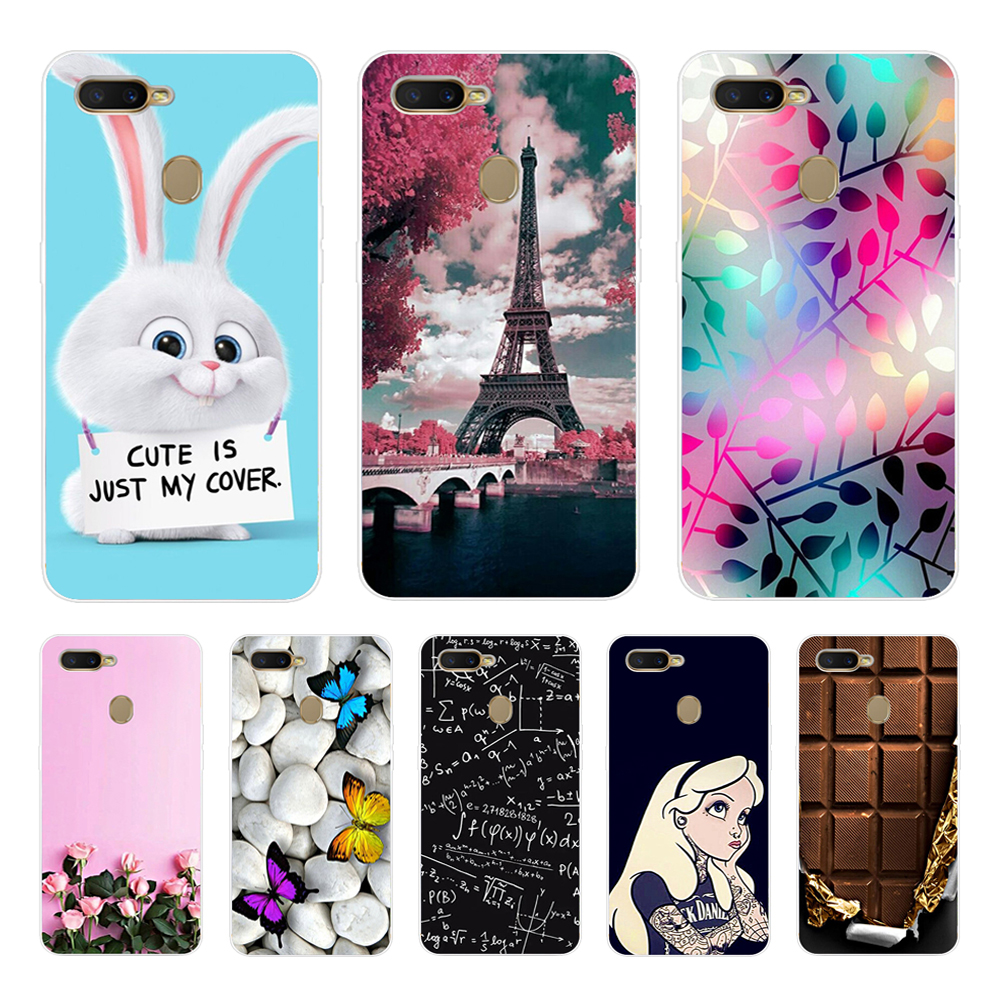 F For OPPO AX7 Case 6.2'' Silicone Soft Print Phone Case For OPPO A7 OPPOA7 CPH1901 Case TPU Clear For OPPO A5S A7 A 7 ax7 a x7 image