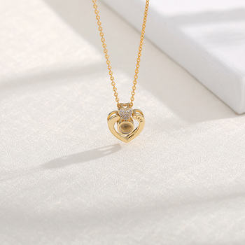 I love you Projection Pendant Necklace Romantic Love Memory Wedding Necklace Rose Gold&Silver 100 languages strollgirl new 100 5 sterling silver 100 language i love you projection rose gold color pendant necklace wedding fashion gift