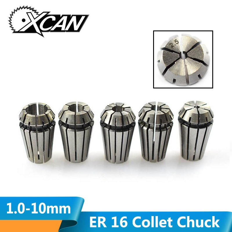 XCAN 1pc CNC ER16 Spring Collet Chuck Tool Holder For CNC Engraving Machine&Milling Lathe 1/2/3/4/5/6/7/9/10mm