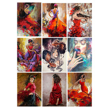 Full Square Drill 5D DIY Diamond Painting Cartoon Girl Art Living Room Home Decoration Round Embroidery Picture