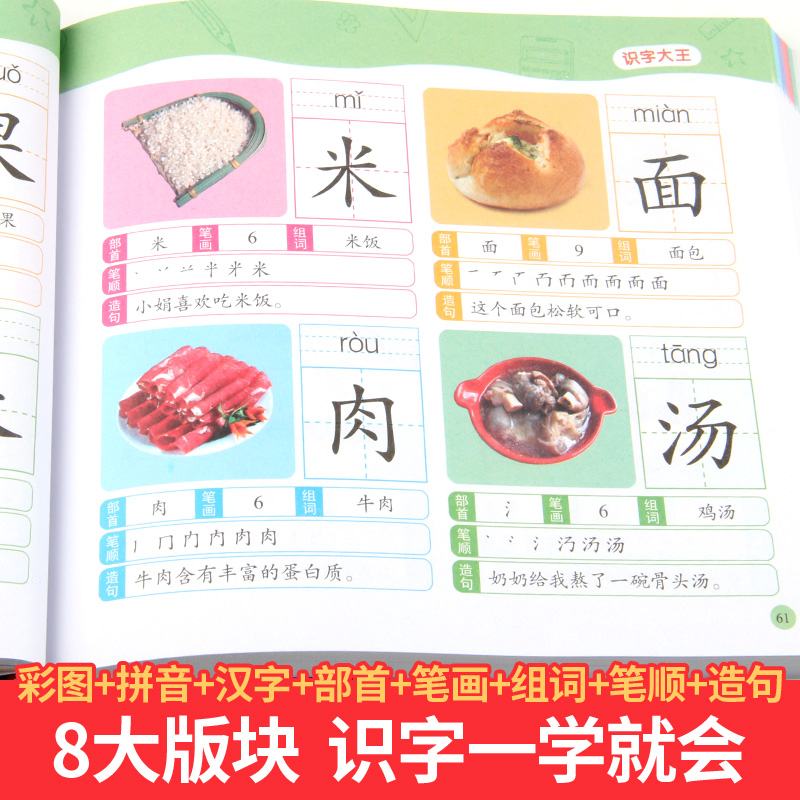 1280 Words Chinese Books Learn Chinese First Grade Teaching Material Chinese characters Picture Book 6