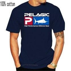 Novo pelágico fisher offshore t camisa gráfica t cor preta tamanho s m l xl 2xl 100% algodão camiseta topos atacado 031461