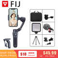 FIJ Official Store Foldable Gimbal Stabilizer Pocket Sized 3 axis Smartphone Handheld Gimbal for Xiaomi Iphone Huawei