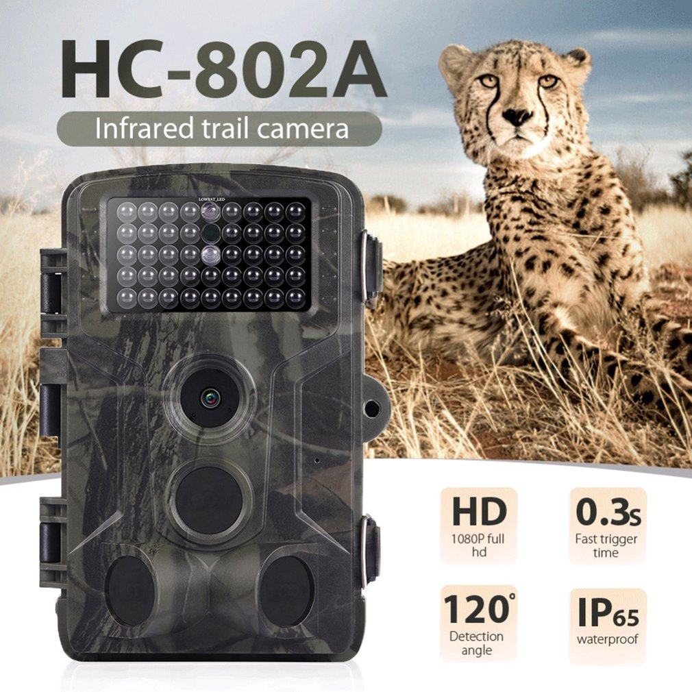 16MP 1080P Wildlife Trail Camera Photo Trap Infrared Hunting Cameras HC802A Wildlife Wireless Surveillance Tracking Cams
