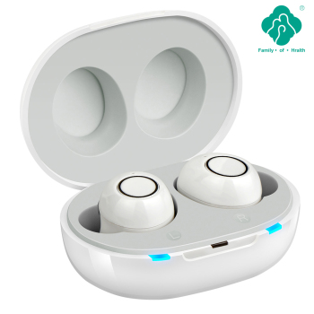 Inteligentny aparat słuchowy w nowym stylu akumulator niski poziom hałasu szerokie częstotliwości obsługa jednym kliknięciem osoby w podeszłym wieku głuchy aparat słuchowy tanie i dobre opinie NoEnName_Null Z Chin Kontynentalnych JH-A39 white In-ear Intelligent new technology High-end headphones hearing aids Can be replaced a New