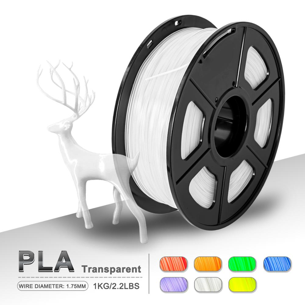 PLA Filament Transparent 1KG/ Spool 1.75mm PLA Filament Printing Material Supplies For 3D Printer Drawing Pens Consumables