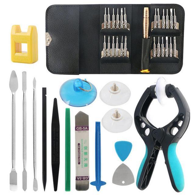 Juego de herramientas de reparación de destornilladores, 40 en 1, para iPhone 11 Pro Max XS XR S 8 7, teléfono móvil, tableta, portátil, Kit de herramientas de mano para cámara