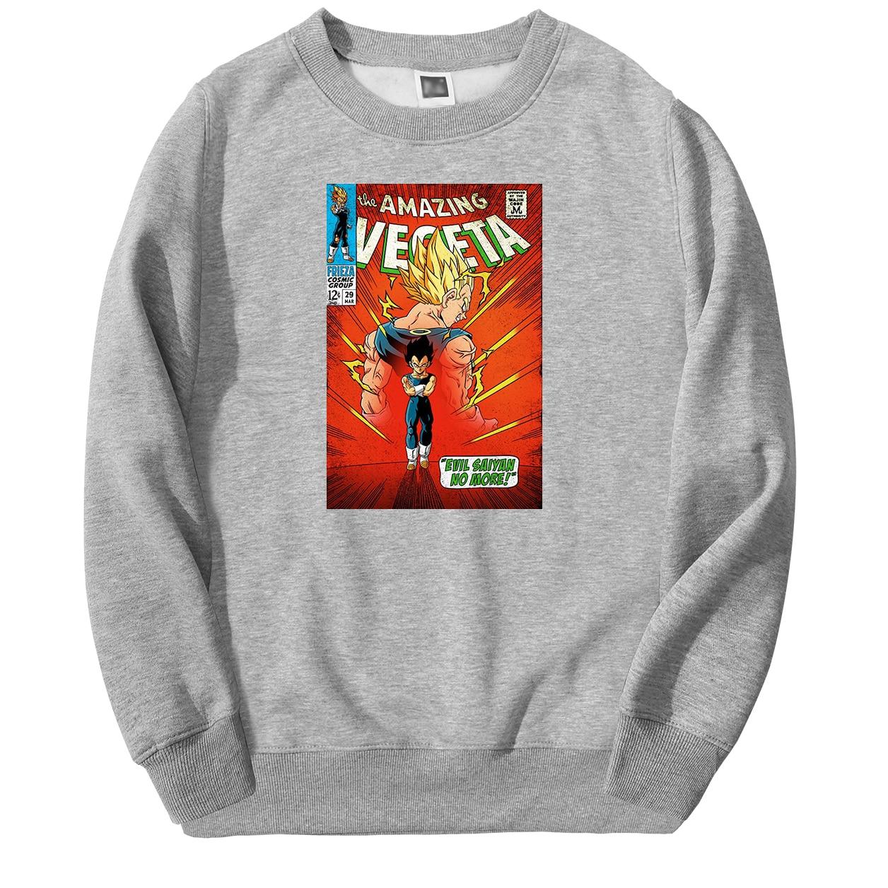 Men's Dragon Ball Z Sweatshirt Hoodies The Amazing Vegeta Pullover Fleece Streetwear Sweatshirts 2020 Spring Warm Sportswear