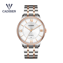 CADISEN men mechanical watch Luxury Brand automatic Date waterproof stainless steel male clock Men's Watches Relogio Masculino недорого