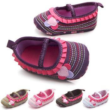 Dziecięce mokasyny dziecięce dziewczynek buty dziecięce party księżniczka szopka buty noworodka wygodne noworodki buty dziewczęce pierwszy Walker dla 0-18M tanie i dobre opinie Płótno Kwiat Wszystkie pory roku Gumką Graniczy Baby girl COTTON Pasuje prawda na wymiar weź swój normalny rozmiar