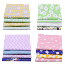 4pcs/set 25*20cm Printed Cotton Cloth Patchwork Sewing Quilting Fabric Needlework DIY Handmade Material Accessories animal printed cotton linen fabric patchwork canvas cloth cotton linen blend fabric handmade diy sewing quilting textile crafts