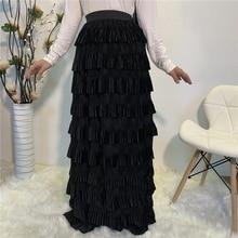 Faldas largas musulmanas, falda Maxi de cintura alta, largo plisado, falda musulmana para mujeres adultas, fondos árabes abaya, Otoño Invierno