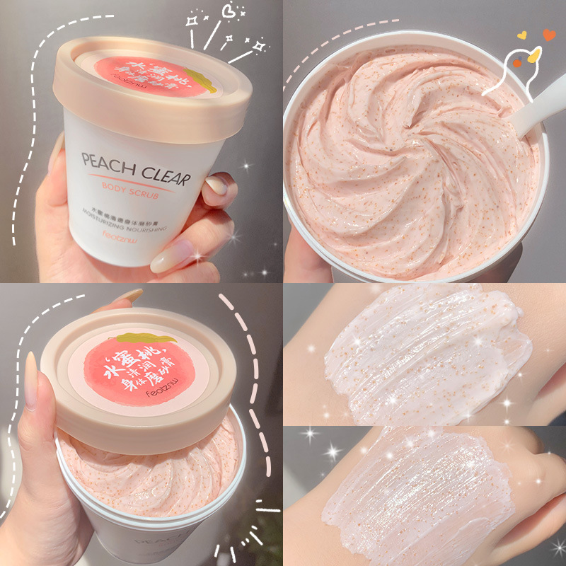 Niacinamide Whitening Body Scrub Cream Moisturizing Skin Exfoliating for Whole Body Pimple Removal Whitening Joints Bath Using