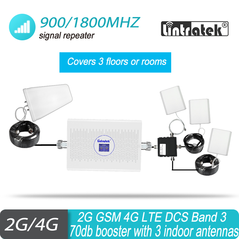 4G Signal Booster GSM 900 1800 2G 4G Repeater LTE UMTS Cell Amplifier Dual Band GSM 3G DCS 1800MHz Cellular Hot Sale Mobile #30