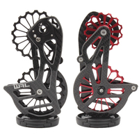 Road Bike Rear Derailleur Oversize Ceramic Bearing 17T Pulley Carbon Cage OSPW System For SHIMANO6800/6870/9000/9070 R7000/R8000