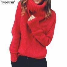 Ysdnchi однотонный тонкий эластичный свитер для женщин Новинка