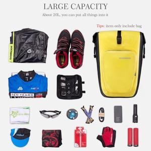 Image 4 - ROCKBROS bolsa impermeable para bicicleta, 27L, cesta de viaje para ciclismo, rejilla trasera, para maletero, accesorios para bicicleta de montaña