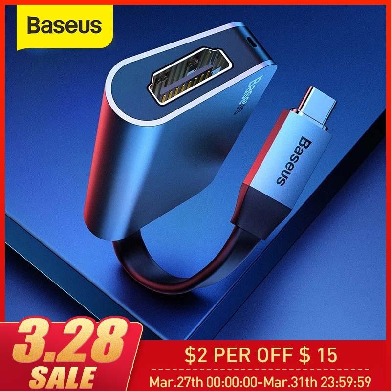 Baseus USB C HUB To 4K HDMI USB Type C HUB For MacBook Pro 60W PD Fast Charge USB Splitter For Samsung S9 Huawei P20 Pro USB HUB