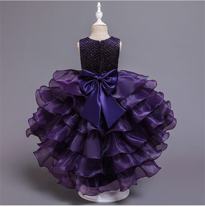 Hdb03525c6a794fc9b4d1b6962517987eO - Kids Princess Dresses For Girls Clothing Flower Party Girls Dress Elegant Wedding Dress For Girl Clothes 3 4 6 8 10 12 14 Years
