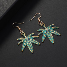 Maple Leaf Drop Earring For Women Trendy Long Tassel Drop Dangle Earring Jewelry Earing Bijoux Boucle D'oreille(China)