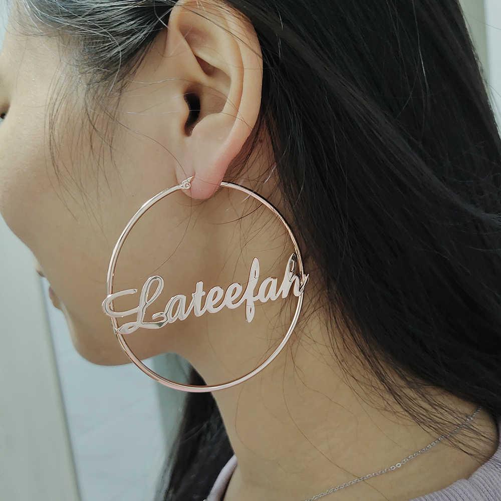 Custom Word Statement Earrings pair