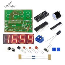 C51 zegar elektroniczny 4 bity zegar elektroniczny elektroniczny zestaw do samodzielnego montażu do szkolne laboratorium edukacyjne DIY Kit tanie tanio UMProb Nowy Regulator napięcia C51 Electronic Clock Normal 3V-6V