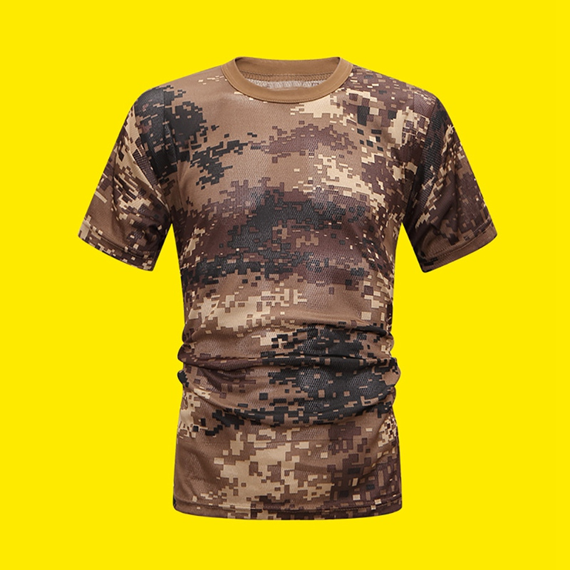 Camouflage Running Sport Short Sleeve T-Shirt Men O Neck Breathable Soft Leisure Riding Walking T Shirt Loose Tee Tops Apparel