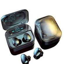 TWS Bluetooth 5.0 אוזניות IP7 אלחוטי אוזניות 6D סטריאו HiFi אלחוטי Earbud משחקי אוזניות עם מיקרופון 2200mAh אפרכסת