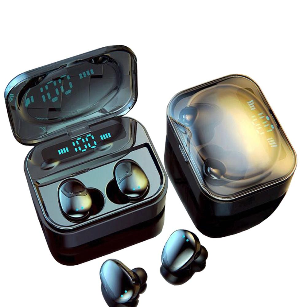 Tws bluetooth 5.0 ip7 fone de ouvido sem fio 6d estéreo alta fidelidade sem fio earbud jogos fone com microfone 2200 mah