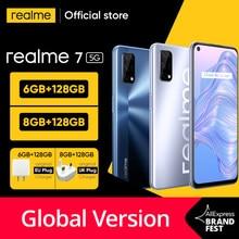 [Welt Premiere Auf Lager] realme 7 5G Dimensity 800U 6GB 128GB 120Hz Display 48MP kamera 5000mAh Globale Version 30W Dart Ladegerät