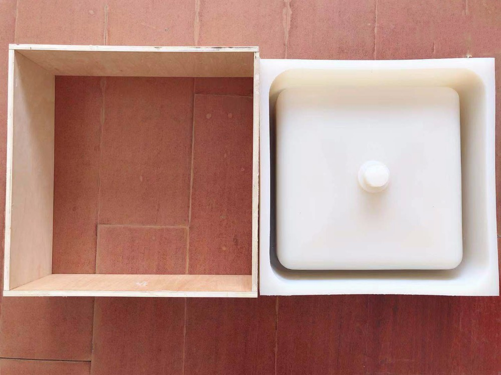 square sink mold bathroom pot molds concrete sink craft moulds wash basin silicone mould with wooden frame