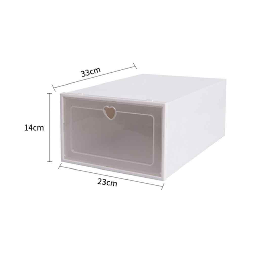 Zapatero con un par de zapatos plegable caja para almacenamiento de zapatos de plástico apilable organizador de zapatos armario Zapatero estante
