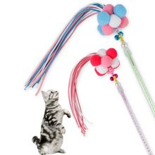 Practical Wand Toy Feather Stick Interactive Game Funny Pet Kitty