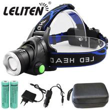 Przenośne powiększanie xml-t6 L2 V6 lampa czołowa Led wodoodporny ZOOM reflektory wędkarskie Camping latarka turystyczna z kablem USB tanie tanio LELITEN Wysoka średnim niskie headlamp T6 L2 T6 V6LED 60 ° lighting LITHIUM ION