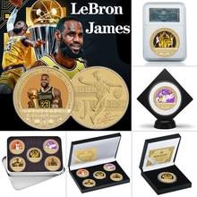 WR баскетбольный МВП плеер позолоченные монеты коллекционные предметы с держателем для монет спортивный оригинальный набор монет Сувенир С...