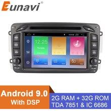 "Eunavi 2 Din 7 ""Android 9,0 DVD del coche para Mercedes Benz CLK W203 W208 W209 W210 W463 Vito Viano radio Estéreo de cuatro núcleos con dsp"