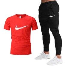 T-shirt en coton pour hommes et femmes, pantalons de survêtement et hauts, combinaisons de sport en coton de haute qualité pour l'été, populaire en 2021
