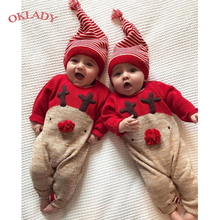 OKLADY Baby Christmas Clothes Xmas Costume Set 1st Girl Newborn Infant Boy Romper Outfit 0-2T Kid