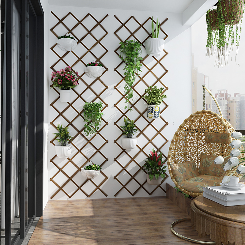 Frame Grid Botany Wall Hanging Flower Rack Wall Hanging Wall Decorate Balcony Wall Metope Suspension Type Flowerpot Pylons