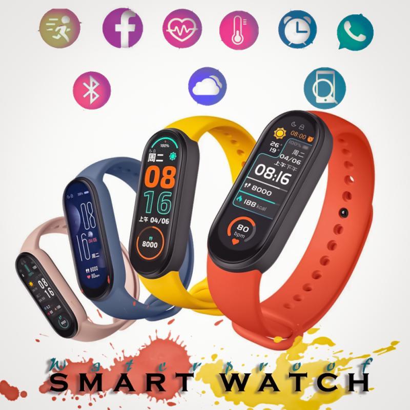 Новый M6 Смарт-часы-браслет фитнес трекер сердечный ритм измерять кровяное Давление монитор Цвет Экран IP67 Водонепроницаемый для Мобильный т...