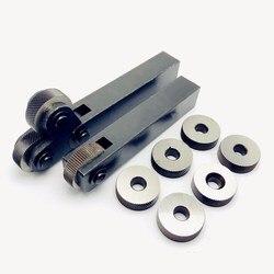 Serrilhando a ferramenta 26mm hss dobro/único passo linear da roda serrilhando o conjunto 0.4mm-3.0mm que grava a faca reticulada da knurling da roda