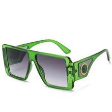 Ретро большая оправа прозрачные солнцезащитные очки для женщин