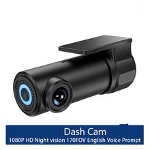 Kamera samochodowa Wifi APP sterowanie głosem kamera na deskę rozdzielczą 1S FHD 1080P Night Vision kamera samochodowa kamerka samochodowa g-sensor kamera na deskę rozdzielczą tanie tanio Rovtop Novatek Przenośny rejestrator Klasa 10 105 °-140 ° Samochód dvr 1920x1080 NONE Cykl nagrywania Sd mmc Mikrofon