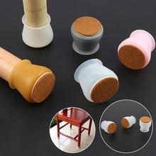 4Pcs Silicon Anti-slip Feet Caps Furniture Leg Protection Cover Felt Pads Table Feet Caps Chair Leg Floor Protection Mat Decor