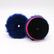 4/6/7inch Wool Pad for DA Polisher  Self adhesive Polishing Pad Pong Hair Purple Woolen Wheel Polish Pad Scratch Repair