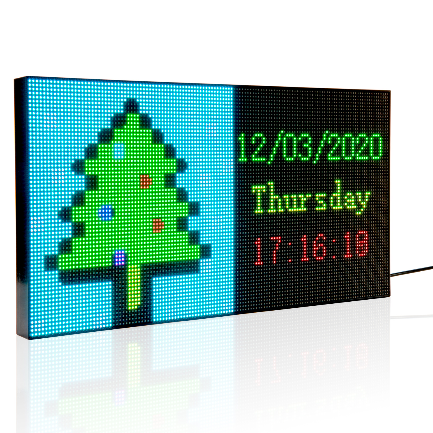 DC5V Portable Led Open Sign Neon Sign Board Programmable Led Display Panel with Foldable Stand and USB Power Cable for Desktop