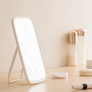 Image 3 - Portatile Led Specchio Per Il Trucco Intelligente Regolabile Pieghevole Specchio Per Il Trucco sensibile al Tocco di Controllo Led Specchio cosmetico Con Luci