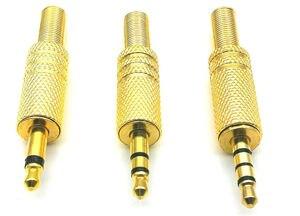 10 шт. золотая пластина 3,5 мм моно стерео 4-полюсный разъем аудио разъем адаптер