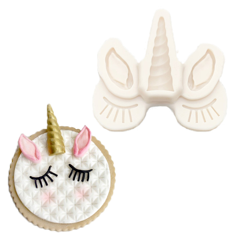 TTLIFE Silicone Mold Decorating-Tools Sugar-Buttons Dessert Unicorn Chocolate-Gumpaste title=